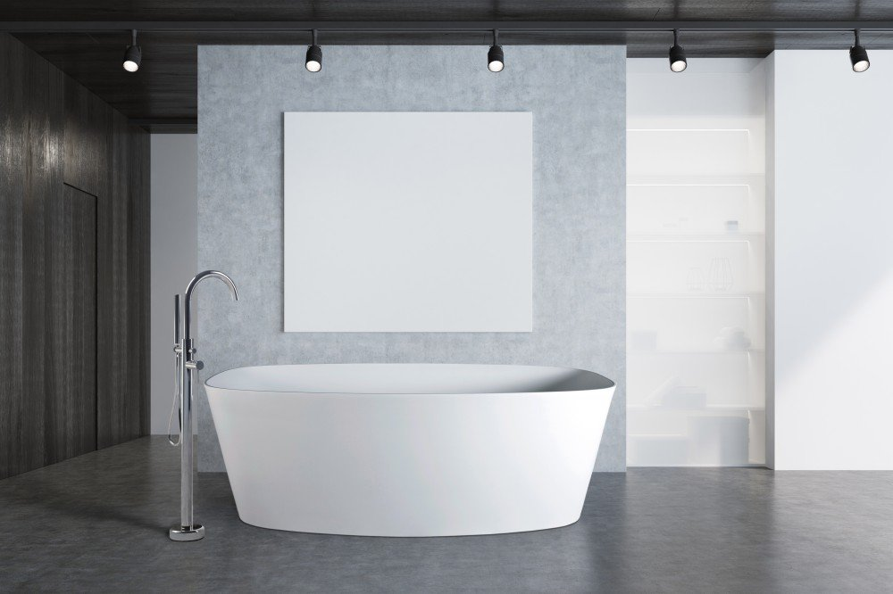 "59"" white compact freestanding soaking tub by FutureClassics"