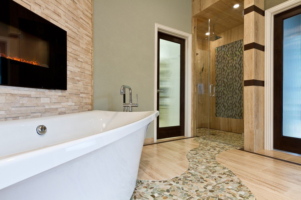 small pebble tile for in bathroom