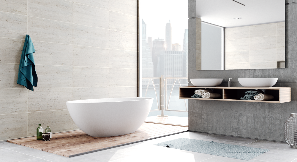 white freestanding soaking tub by FutureClassics