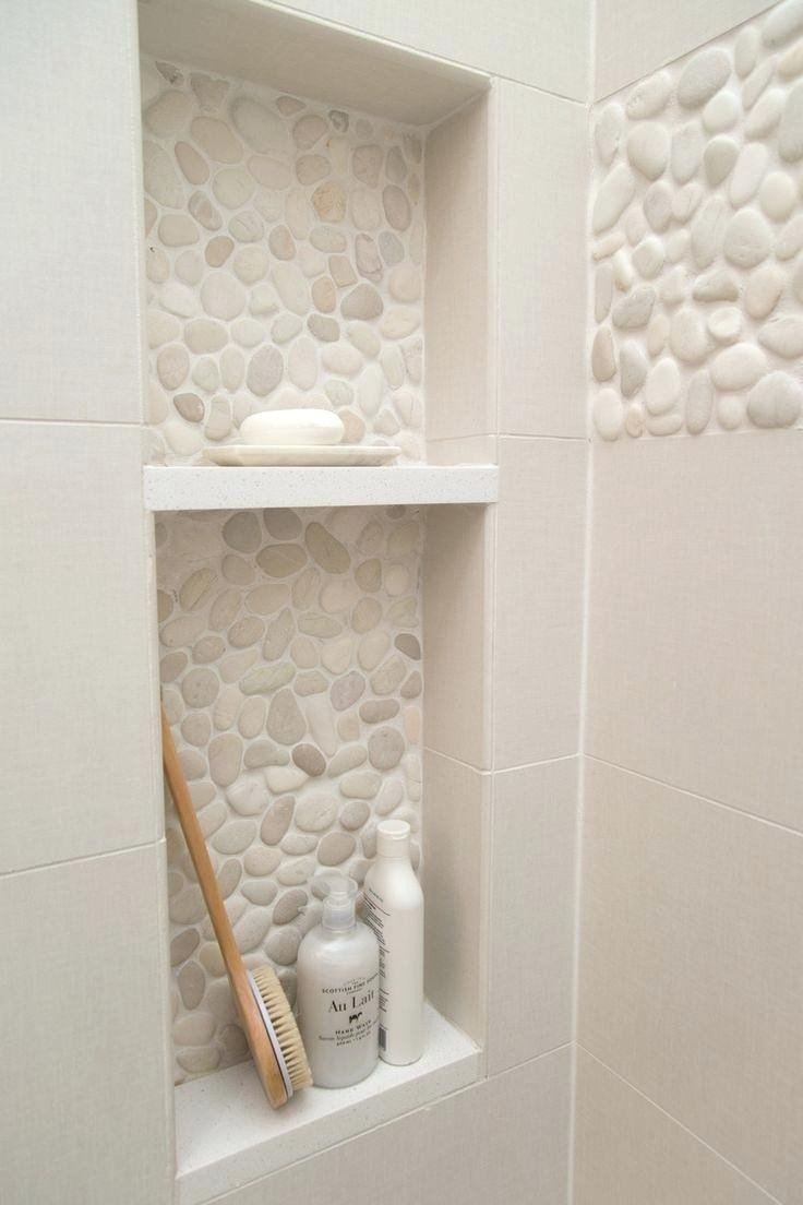 brown pebble shower niche