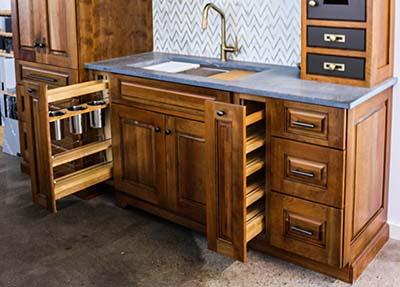 kitchen cabinetry storage